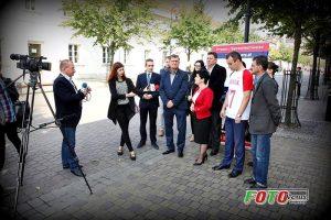 Konferencja prasowa kandydatki na posła Sejmu RP dr. Joanny Borowiak we Włocławku
