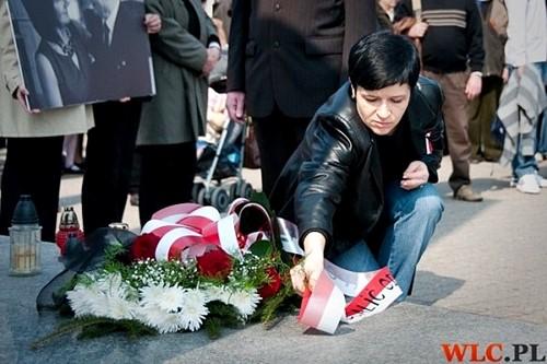 Włocławski Marsz Pamięci w ramach obchodów 70. rocznicy zbrodni katyńskiej z udziałem Joanny Borowiak