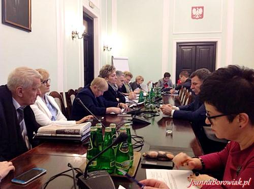Posiedzenie Komisji Edukacji, Nauki i Młodzieży z udziałem Poseł Joanny Borowiak