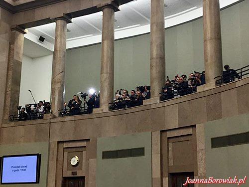 34. Posiedzenie Sejmu RP z udziałem Poseł Joanny Borowiak