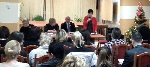 Poseł Joanna Borowiak na spotkaniu członków Komisji Międzyzakładowej NSZZ