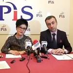 Konferencja prasowa Poseł Joanny Borowiak z udziałem szefa klubu radnych PiS Jarosława Chmielewskiego