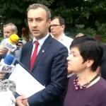 Konferencja prasowa w sprawie zmiany przebiegu planowanej drogi łączącej osiedla Michelin i Południe