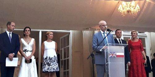 Uroczystość z okazji wizyty Księcia i Księżnej Cambridge w Łazienkach Królewskich