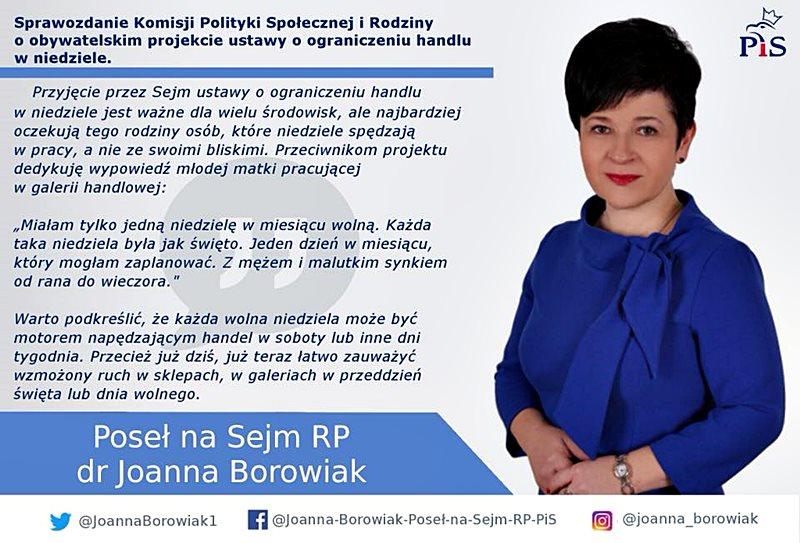 Joanna Borowiak - Komisja Polityki Społecznej