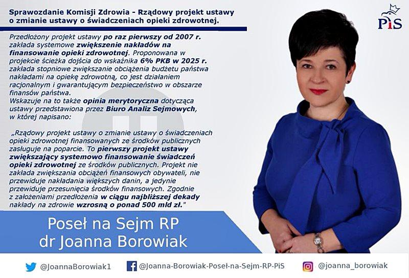 Joanna Borowiak - Komisja Zdrowia