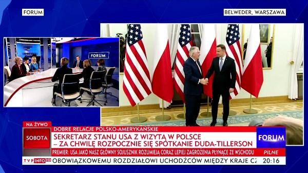 Poseł Joanna Borowiak wzięła udział w programie Forum na antenie TVP Info