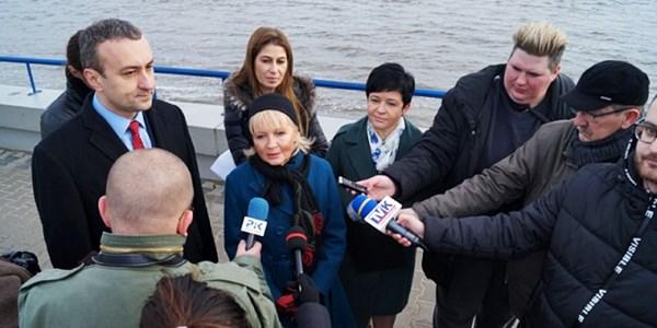Konferencja prasowa nt. pozytywnej decyzji RDOŚ dla budowy nowego stopnia wodnego na Wiśle poniżej Włocławka