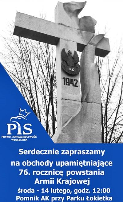 Poseł Joanna Borowiak zaprasza na obchody 76. rocznicy powstania Armii Krajowej