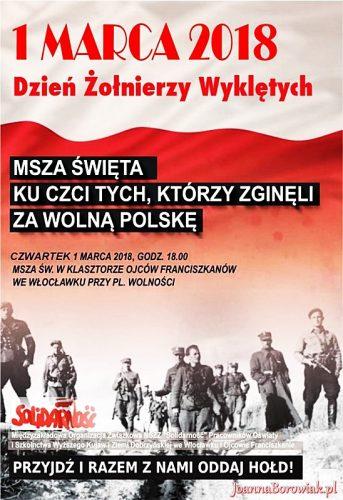 Poseł Joanna Borowiak serdecznie zaprasza do udziału w obchodach Narodowego Dnia Żołnierzy Wyklętych we Włocławku