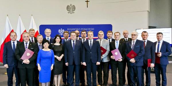 Uroczyste wręczenie promes MSWiA dla samorządów województwa kujawsko-pomorskiego