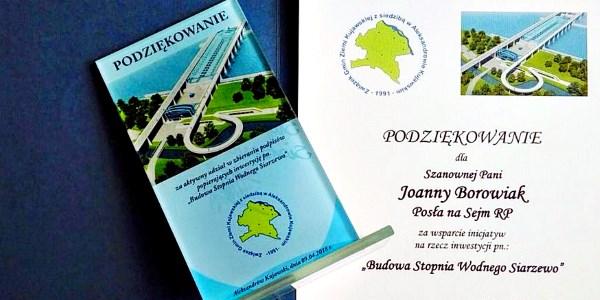 Podsumowanie akcji zbiórki podpisów popierających budowę stopnia wodnego w Siarzewie
