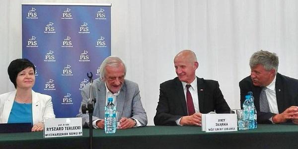 Spotkanie z Wicemarszałkiem Sejmu RP Ryszardem Terleckim w gminie Łubianka