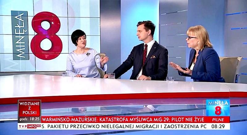 Poseł Joanna Borowiak wzięła udział w programie Minęła TVP Info na zaproszenie Pana Redaktora Krzysztofa Świątka