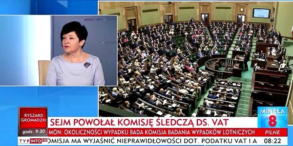 """Poseł Joanna Borowiak wzięła udział w programie """"Minęła 8"""" TVP Info na zaproszenie Pana Redaktora Krzysztofa Świątka"""