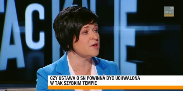Poseł Joanna Borowiak gościem pani Redaktor Agnieszki Gozdyry w programie Polsat News Tak czy Nie