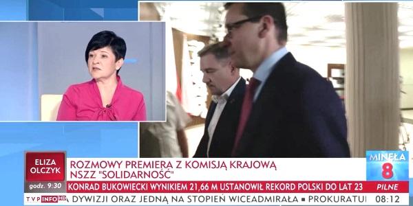 Poseł Joanna Borowiak gościem w porannym programie Minęła 8 w TVPInfo