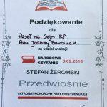 Narodowe Czytanie pod patronatem Pary Prezydenckiej w Zespole Szkół nr 4 im. K. K. Baczyńskiego we Włocławku