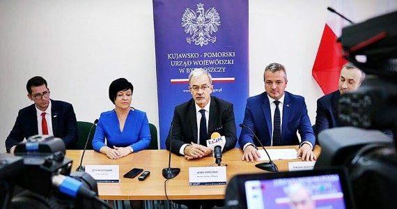 Minister Inwestycji i Rozwoju Jerzy Kwieciński odwiedził Włocławek