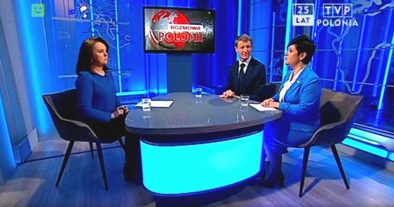 Poseł Joanna Borowiak gościem w TVP Polonia