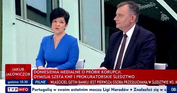 """Poseł Joanna Borowiak gościem w porannym programie TVP Info """"Minęła 8"""""""