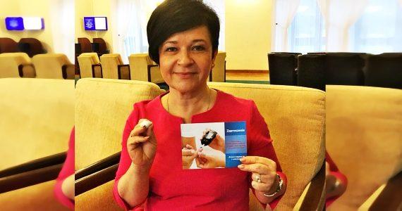 Poseł Joanna Borowiak wzięła udział w akcji Razem ścigamy się z cukrzycą odbywającej się w Sejmie