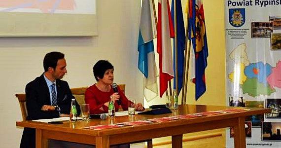 Konferencja prasowa Poseł Joanny Borowiak w Rypinie z udziałem Burmistrza Pawła Grzybowskiego