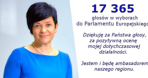 Poseł Joanna Borowiak podziękowała za udział i wysoką frekwencję w wyborach do Parlamentu Europejskiego
