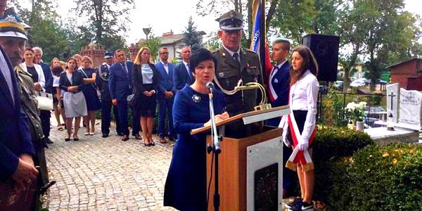 Uroczystość pośmiertnego awansowania kapitana Floriana Laskowskiego w Grucie