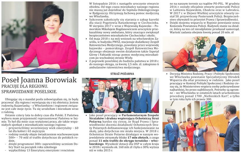 Poseł Joanna Borowiak ambasadorem regionu