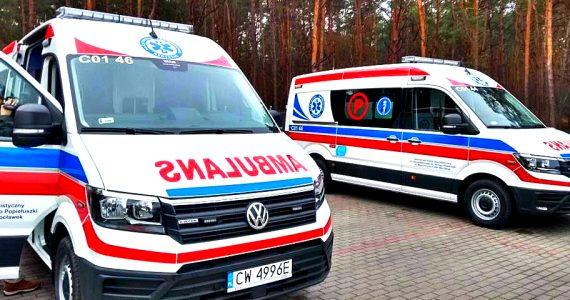 Przekazanie nowych ambulansów dla włocławskiego szpitala