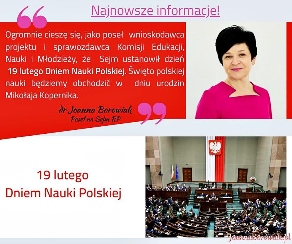 Sejm ustanowił Dzień Nauki Polskiej