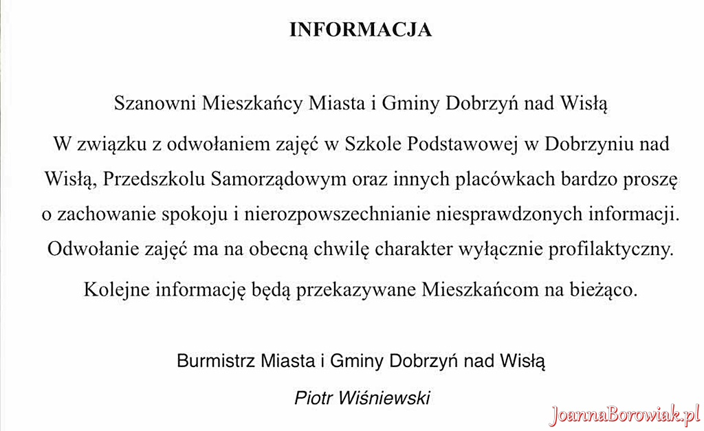 Poseł Joanna Borowiak rozmawiała z Burmistrzem Dobrzynia nad Wisłą na temat zapewnienia bezpieczeństwa mieszkańcom