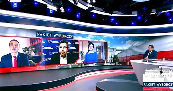 Poseł Joanna Borowiak gościem w programie TVP Info Pakiet Wyborczy