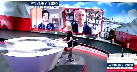 Poseł Joanna Borowiak gościem w programie TVP Info Raport Polityczny