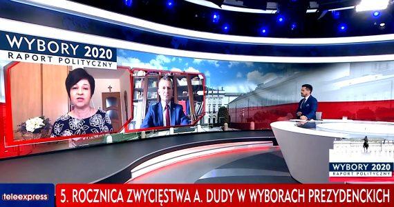 Poseł Joanna Borowiak gościem w programie TVP Info Raport Wyborczy