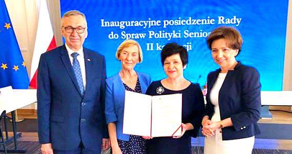 Poseł Joanna Borowiak została powołana w skład Rady do Spraw Polityki Senioralnej