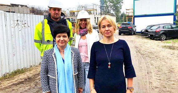Poseł Joanna Borowiak gościła na budowie nowego gmachu Sądu Okręgowego we Włocławku