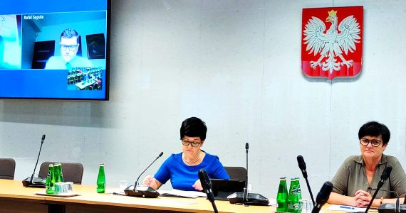 Poseł Joanna Borowiak w Komisji Polityki Senioralnej