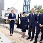 Uroczystość wmurowania kamienia węgielnego pod nowy gmach sądu okręgowego we Włocławku