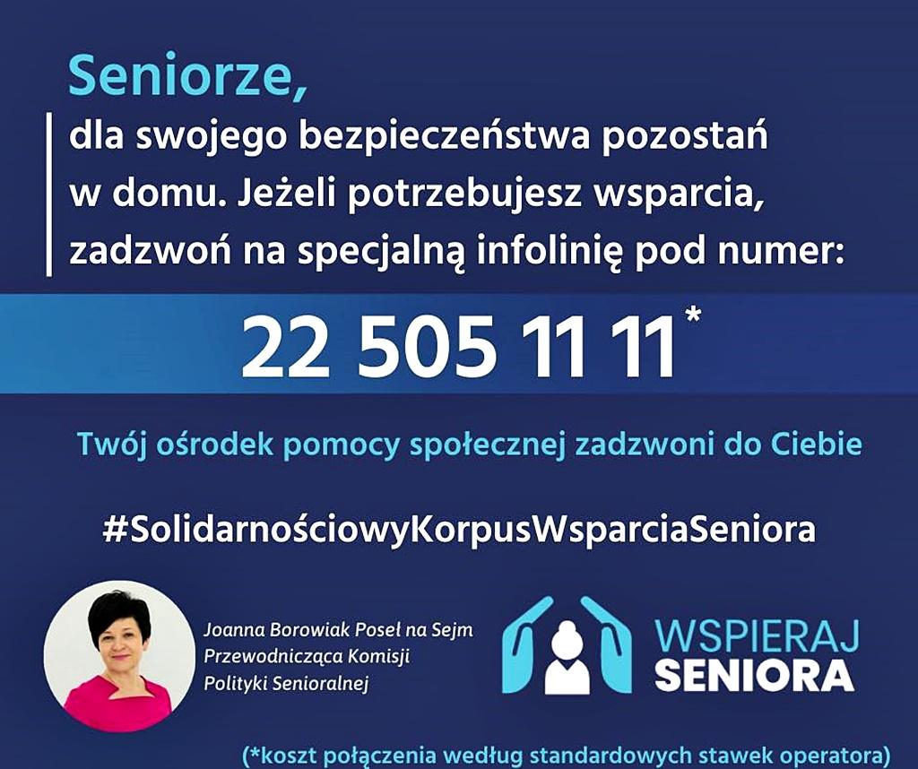 Powstał Solidarnościowy Korpus Wsparcia Seniora