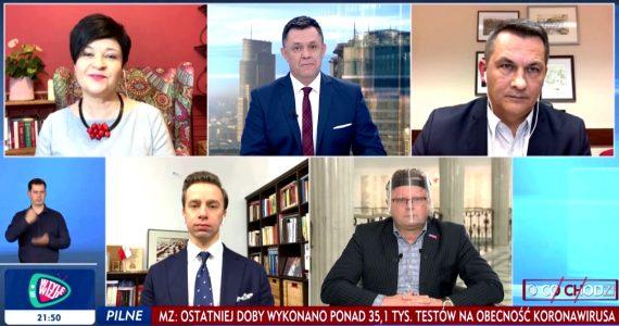Poseł Joanna Borowiak gościem w programie TVP Info O co chodzi