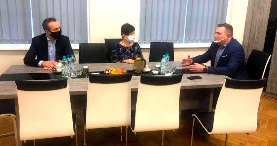 Spotkanie ze Starostą Romanem Gołębiewskim
