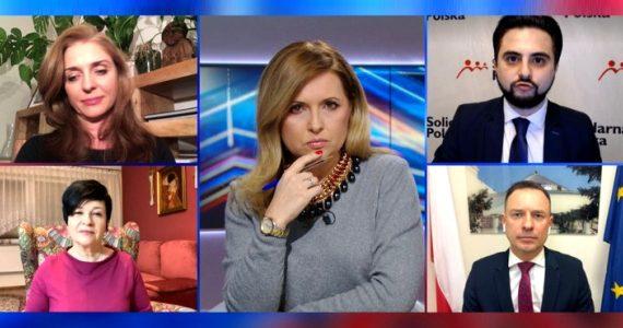 Poseł Joanna Borowiak gościem w programie Debata Dnia w Polsat News