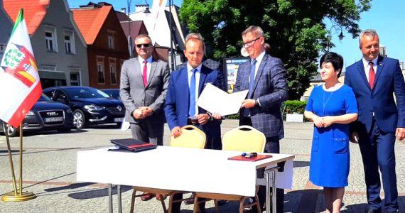 Uroczystość podpisania umowy z wykonawcą obwodnicy Lipna