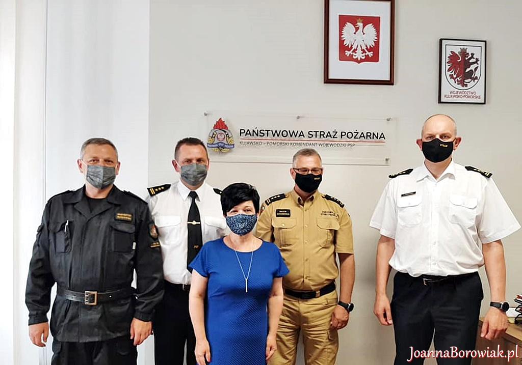 Spotkanie z Komendantem Komendy Wojewódzkiej PSP w Toruniu