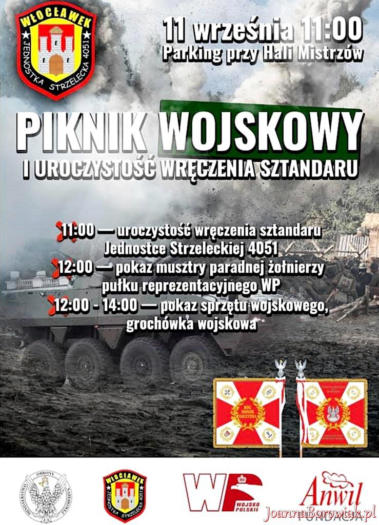 Piknik wojskowy MON i uroczyste wręczenie sztandaru JS4051 z Włocławka
