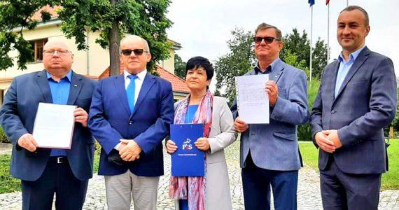 Konferencja prasowa poświęcona pogarszającej się sytuacji w Wojewódzkim Szpitalu Specjalistycznym we Włocławku