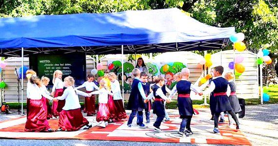 Uroczystość oddania do użytku przedszkola w Wiosce